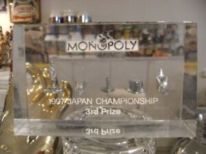 Monopoly Japan Championship Edition Trophy 1997 The Third Place Prize Not Sale