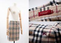 Women's BURBERRY London Nova Check Plaid Skirt Size 48