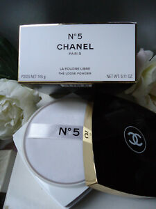 Giftwrapped CHANEL No5 The Loose Powder Perfumed Talc Body 145g Rare Sealed Box
