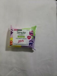 25 Count Simple Kind To Skin Micellar Wipes Make-Up Remover Little Mix Facial