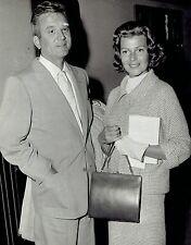 1958 Original DBLWT Photo Rita Hayworth and James Hill arrive at London Waterloo