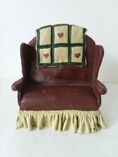 Sarah's Attic Granny's Favorite Burgundy Green Love Seat #5121 1993
