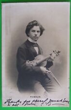 RP Postcard POSTED 1902 MUSICIAN KUBELIK WITH HIS VIOLIN