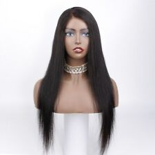 """Half Price Pre-owned Bleached Knots 360 Lace Wig 22"""" Black Color Human Hair Wigs"""