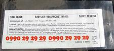 Flightpath EasyJet 'Billboard Telephone' Boeing 737-200 decal 1/144th scale