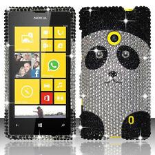 For Nokia Lumia 521 Crystal Diamond BLING Case Phone Cover Panda Accessory