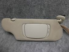 2000-2005 Ford Taurus Sable RH Lighted Sun Visor w/ Shade Panel Light Gray 17685