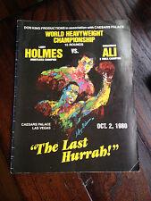 """1980 Ali vs Holmes """"The Last Harrah"""" Championship Boxing Program"""