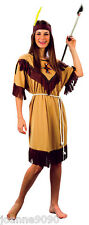 Ladies Womens Native Red Indian Squaw Pocahontas Fancy Dress Book Costume Outfit