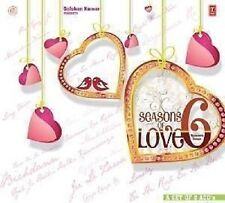 SEASONS OF LOVE 6 ROMANTIC SONGS - 2 CD BOLLYWOOD COMPILATION SET - FREE POST