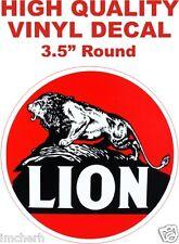 Vintage Style Lion Gasoline Fuel Motor Oil Gas Pump Decal - The Best!
