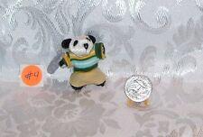Doll Size Miniature Stuffed Pet Panda Bear Toy 1/6 Scale Littles #4 Fv23