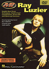 RAY LUZIER BILLY SHEEHAN *NEW* DOUBLE BASS DRUM DVD