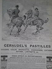 Geraudel's Norway Pine Tar Pastilles art ad 1895