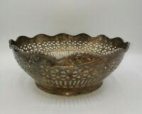 Vintage BRASS Basket  Planter Decorative Centerpiece Fruit Bowl India