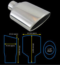 UNIVERSAL STAINLESS STEEL EXHAUST TAILPIPE TIP SINGLE YFX-0286A  FIA1