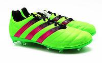 Adidas ACE 16.2 FG AG Fußballschuhe Leder Nocken grün AF5135 Gr. 41 - 46 NEU