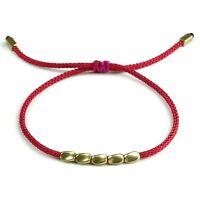 BENAVA Tibet Armband Damen Stoffarmband geflochten Perlen Freundschaftsarmband