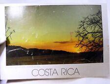 "Playa Hermosa Atardecer Costa Rica Sunset  Postcard 6X4"" vintage 1980-90's"