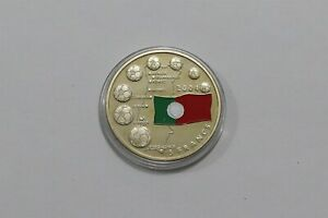 CONGO PORTUGAL COLOURED 5 FRANCS 2003 SOCCER EURO B33 MMM41