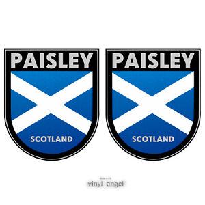 2x PAISLEY Scotland Scottish Flag Vinyl Sticker for Car Laptop #2268