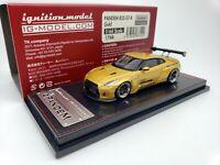41:64 Ignition Nissan Skyline GT-R R35 PANDEM Gold JDM IG1744 Japan Limited GTR