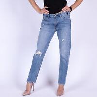 Levi's 505 Cropped hellblau distressed Damen Jeans Größe 28