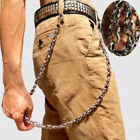 Mens Biker Trucker Heavy Skull Hip-pop Metal Keychain Key Jean Wallet Chain