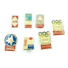 Lot de 7 pin's Coca Cola jeux olympiques