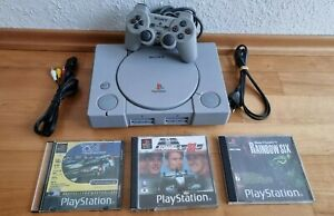Sony PlayStation 1 PS1 Spiel-Konsole mit Sony Controller + 3 tolle Spiele