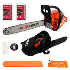 "62cc Petrol Chainsaw - 20"" Bar & 2 x Chains + More"