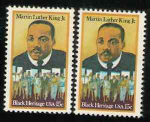 US. 1771. 15c. Martin Luther King. Portrait Double Transfer. VARIETY. MNH. 1979