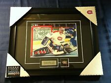 Patrick Roy Montreal Canadiens unsigned Hockey Frame Cadre Retro Forum VS QUEBEC