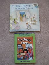 CHILDREN'S BOOKS - LOT OF 2 - THE GRANNY GAME + POEMS AND PRAYERS FOR THE YOUNG