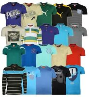 MENS PUMA T-SHIRTS POLOS BRANDED LONG SHORT SLEEVE CLEARANCE TOPS FROM £9.99