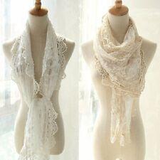 Lady Women Floral Lace Crochet Neck Scarf Long Wrap Shawl Pashmina Stole Scarves