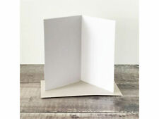 Pack of 10 A5 Sized White blank Cards 300gsm ~Card making + Envelopes
