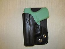GLOCK 43 9 MM  FORMED BLACK LEATHER, right hand, wallet and pocket holster