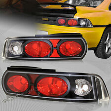 For 1990-1999 Toyota MR2 Black Housing Clear/Red Lens Altezza Tail Lights Lamps