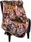 "The Woods Hunting Camo Camouflage Fleece Baby Blanket, Pink, 40""x50"""