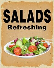 Salads Refreshing DECAL (CHOOSE YOUR SIZE) V Food Truck Concession Sticker