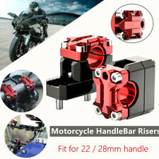 Off-road Motorcycle HandleBar Risers 22mm/28mm Handle Bar Mount Clamp Riser L+R
