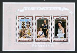 Penrhyn Islands   1977   Scott # 89a    Mint Never Hinged Souvenir Sheet