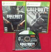 Call of Duty: Black Ops I II III Trilogy - Microsoft Xbox 360 Rare Game Working!