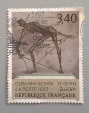 """France stamps - C E P T Germaine Richer """"The Clawed""""    1993 3,40f - FREE P&P"""