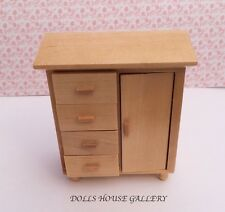 Pine Chest Of Drawers, Doll House Miniature Furniture, 1,12th Scale