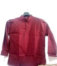 Indian Full Sleeves Men T Shirt XL Kurta Cotton Hippie Ethnic Short Kurta