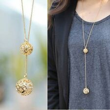 New Fashion Women Necklace Double Gold Plated Long Chain Sweater Pendant Jewelry