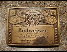 Beer Belt Buckle Vintage Genuine Budweiser