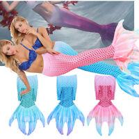 Womens Adult Fin Mermaid Tail Swimmable Tail Swimming Swimwuit Bikini Swimwear